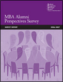2007 Alumni Perspectives Survey Report cover