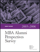 2006 Alumni Perspectives Survey Report cover