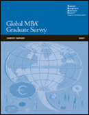 2007 Global MBA Graduate Survey Report Cover