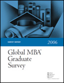 2006 Global MBA Graduate Survey Report Cover