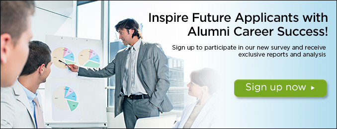 Inspire future applicants with alumni career success