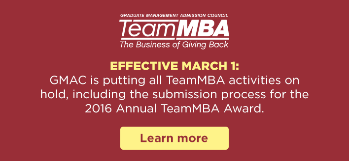 TeamMBA Announcement 2016