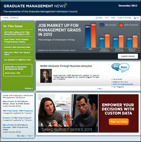 Graduate Management News