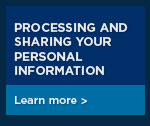 Processing and sharing your personal inforation