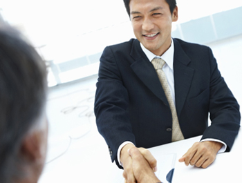 Men Shaking Hands Hiring Image
